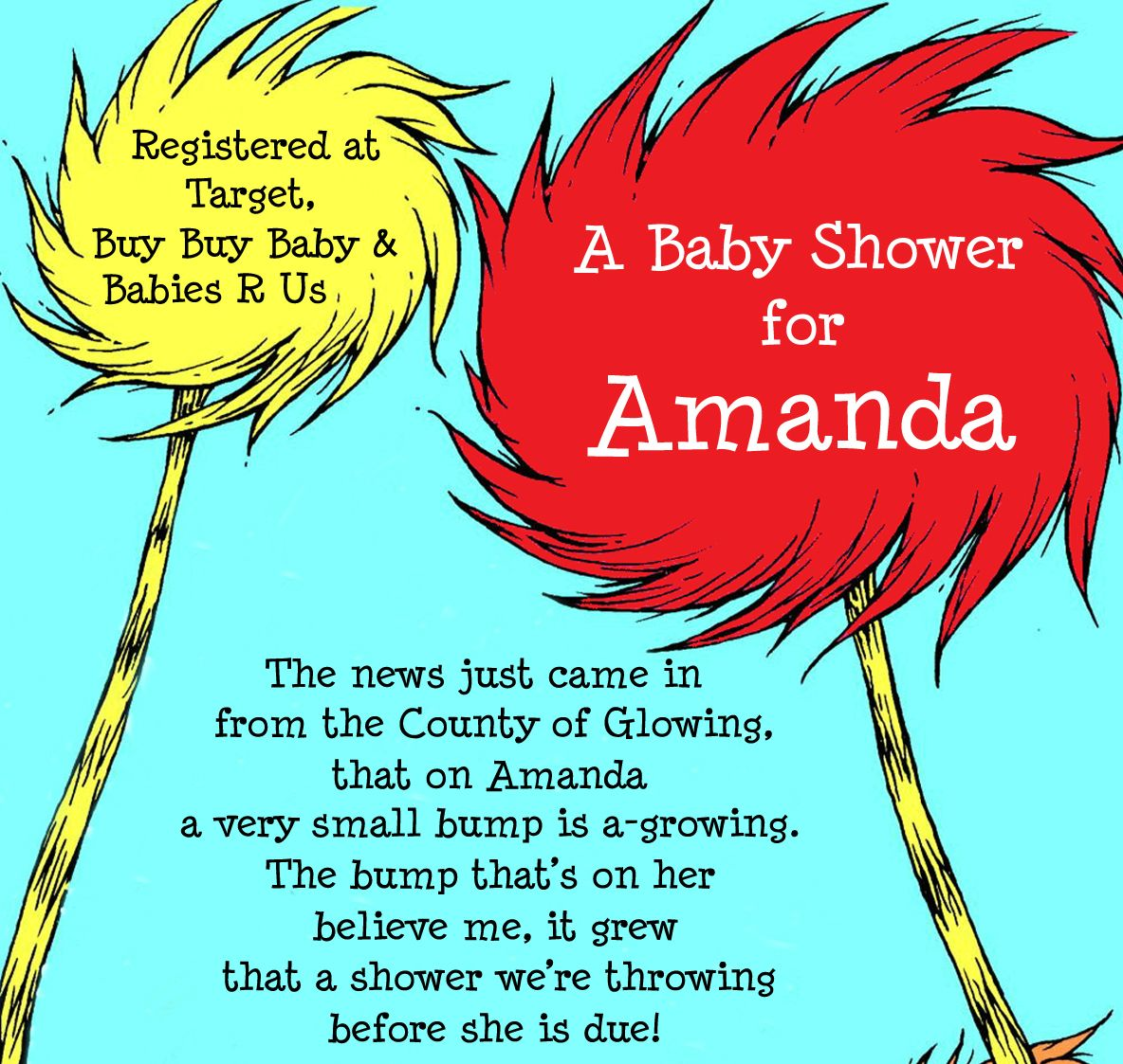 Dr. Seuss Baby (Shower) Babble | Sweets By Charity