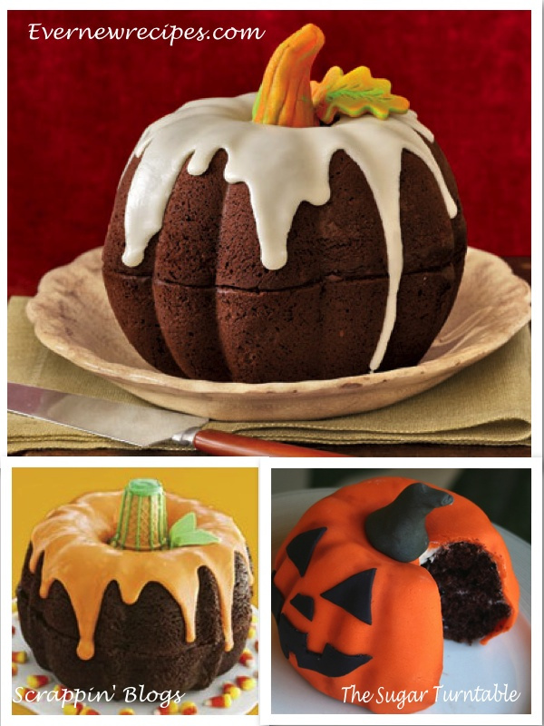 Fall Bundt Cake Pumpkins